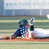 Jeremy Iellimo sliding into 2nd base safely<br /> Tina Laney/for The Register-Herald