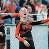 Summers County cheerleaders dance during Friday's game against Greenbrier West at Summers County High School. Jenny Harnish/The Register-Herald