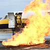 Fire fighters from Beaver Fire Department and Raleigh County Memorial Airport, participated in a training session putting out a fire on a simulator airplane held at the Raleigh County Memorial Airport in Beaver Wednesday morning. <br /> (Rick Barbero/The Register-Herald)