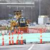 Crews working on a bridge 1-77 near exit 44<br /> (Rick Barbero/The Register-Herald)