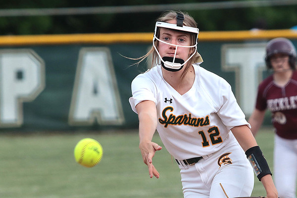 Greenbrier East's Taylor Graham pitches against Woodrow Wilson during the Class AAA Region 3, Section 2 in Fairlea Tuesday. Jenny Harnish for the Register-Herald