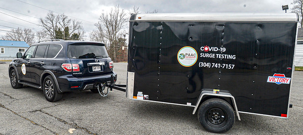 A mobile Covid testing unit at the Multicultural Center in Beckley.<br /> F. Brian Ferguson/for The Register-herald