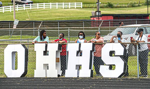 F. Brian Ferguson/Register-Herald  It was standing room only at John D. Duda Stadium during Saturday's Oak Hill High School Graduation.
