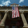 F. Brian Ferguson/Register-Herald  The Fayette County Courthouse was decorated with Ole Glory for Saturday's Fayetteville July 4th events.