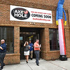Customers coming out of the Axe Hole on 328 Neville Street in Beckley.<br /> (Rick Barbero/The Register-Herald)