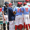 Independence coach goes to the mound to speak with his pitcher,Atticus Goodson, in game against North Marion during the semi-final State Baseball Tournament held at Appalachian Power Park in Charleston Friday morning.<br /> (Rick Barbero/The Register-Herald)