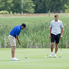 Jordan Meadows putting for par at hole 5 during the  Mountain State Golf Tournament at Grandview Country Club.<br /> Tina Laney/for The Register-Herald