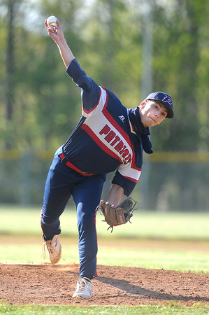 Independence pitcher Clay Basham throws a fastball during a game against Bluefield. Jon C. Hancock/for The Register-Herald