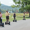 Segway riders tour the grounds of the Greenbrier during the 102nd West Virginia Amateur on the Old White course in White Sulphur Springs Wednesday.   Jenny Harnish/ The Register-Herald