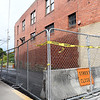 Street is blocked of beside the building on 227 Prince Street, Beckly mayor Rob Rappold wants the building torn down.<br /> (Rick Barbero/The Register-Herald)