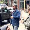 Mike Wolfe, telvision reality star on American Pickers, visited the Bon-Bon store on Main Street in Mt. Hope Monday.<br /> Submitted Photo by Michael Kessinger