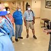 Bie Lehew, chief volunteer service Beckley VA Medical Center, speaks with the Medical Center volunteers.<br /> (Rick Barbero/The Register-Herald)