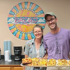 Good Roads Bakehouse owner Daniel Cannon and Karri Roberts on opening day of their new bakery in Frankford Saturday. Jenny Harnish/The Register-Herald
