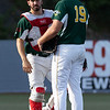 WV Miners catcher Straton Podaras approches the Pitcher Hunter Youngblood on the mound.<br /> Tina Laney/for The Register-Herald