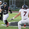 Logan Doddrill runs the ball for Liberty Friday night against Wayne.<br /> Tina Laney/for The Register-Herald