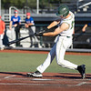 Pat Mills for the WV Miners hits a homerun tonight against Champion City Kings.<br /> Tina Laney/for The Register-Herald