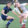 (Brad Davis/For The Register-Herald) WVU Tech's Katie Bol battles for possession with Shawnee State's Carliota Ipina Taylor Saturday evening at the YMCA Paul Cline Memorial Sports Complex.