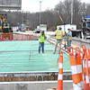 Crews working on a bridge 1-77 near exit 44<br /> (Rick Barbero/The Register-Herald)