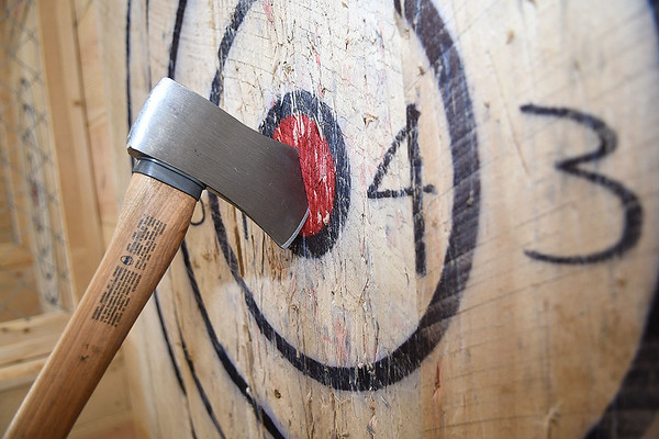 Axe Hole on 328 Neville Street in Beckley.<br /> (Rick Barbero/The Register-Herald)