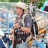 """The One Man Band Marc Dobson performs at the State Fair of West Virginia Thursday. Dobson plays 9 instruments at once and has been preforming as a one man band for 11 years. To watch a video and hear his story visit  <a href=""""http://www.register-herald.com"""">http://www.register-herald.com</a>. Jenny Harnish/The Register-Herald"""