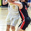 Shady Spring's Brandon Chapman left, moves the ball as Pikeview's Gage Damewood defends during Monday evening action in Beckley. F. Brian Ferguson