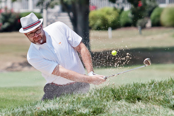 Philip Reale plays during the final day of the 102nd West Virginia Amateur on the Old White course at The Greenbrier in White Sulphur Springs Wednesday.   Jenny Harnish/ The Register-Herald