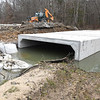 The new box culvert getting installed on New River Drive in Beckley.<br /> (Rick Barbero/The Register-Herald)
