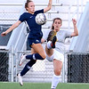 (Brad Davis/For The Register-Herald) WVU Tech's Jodie Pallant battles for possession with Shawnee State's Haynaa Addy Saturday evening at the YMCA Paul Cline Memorial Sports Complex.