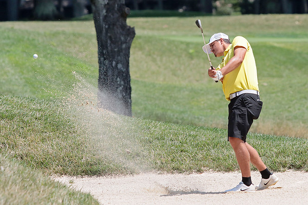 Alex Easthom plays during the final day of the 102nd West Virginia Amateur on the Old White course at The Greenbrier in White Sulphur Springs Wednesday.   Jenny Harnish/ The Register-Herald