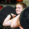 Chole Honaker lifts weights at Coal Crossfit on Saturday.<br /> Jon C. Hancock/for the Register-Herald