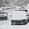 Westwood Drive in Beckley covered up with snow Thursday morning.<br /> (Rick Barbero/The Register-Herald)