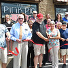 The Pink Pig opened up a new location on 801 South Kanawha Street in Beckley and held a ribbon cutting ceremony Thursday afternoon. Pictured from left, Andrew Dolin, Beckley Mayor Rob Rappold, co-owner, Fred Dolin, co-owner and Marybeth Toler, manager.<br /> (Rick Barbero/The Register-Herald)