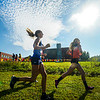 F. Brian Ferguson/Register-Herald The morning sun beats down on the girls runners during Saturday morning's Chic-fil-a invitational in Beckley.