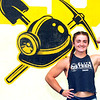Chole Honaker flexes her muscles at Coal Crossfit on Saturday.<br /> Jon C. Hancock/for the Register-Herald