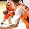 F. Brian Ferguson/Register-Herald  Independence's Zach Bolen drives the ball for Mid State Automotive.