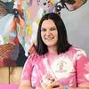 Frozen Barn owner Tiffany Willis holds a Sangria Swirl. F. Brian Ferguson