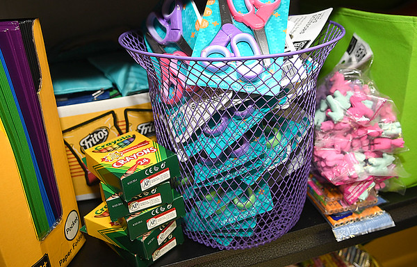Materials for Operation Backpack at Mabscott United Methodist Church.<br /> (Rick Barbero/The Register-Herald)