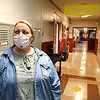 Jumping Branch Elementary School principal Angela Taylor, walks the schools hallways checking on teachers during remote learning lessons. <br /> (Rick Barbero/The Register-Herald)