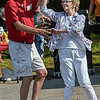 F. Brian Ferguson/Register-Herald  Allen Cook, left, of Itman and Judy Riffe of Wyco put on their dancing shoes during a July 4th celebration in Mullens on Sunday.