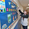 Jennifer Quesenberry, second grade teacher at Maxwell Hill Elementary School, preparing for the first day of school that starts Tuesday in Raleigh County.<br /> (Rick Barbero/The Register-Herald)