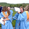 Meadow Bridge High School Class of 2021 graduates Ashley Fox, Madisyn Jarrett, My-esha Chaffin and Madison Harrah display their happiness following Saturday's graduation ceremony.<br /> Steve Keenan/The Register-Herald