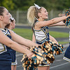 F. Brian Ferguson/Register-Herald Nicholas County cheerleaders get the fans into the game during Friday action in Oak Hill.