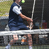 Drew Stafford, of Shady Spring, competes in the Class AA-A Region 3 high school tennis tournament held at Shady Spring High School.<br /> (Rick Barbero/The Register-Herald)