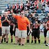 Summers County head coach Josh Evans reacts during Friday's game against Greenbrier West at Summers County High School. Jenny Harnish/The Register-Herald