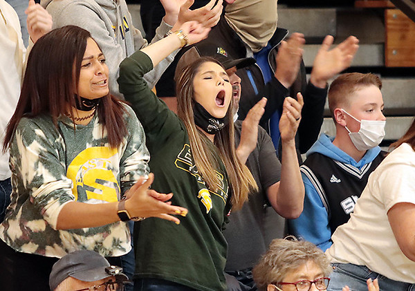 Greenbrier East fans get emotional during Saturday's Class AAAA Region 3, Section 2 game against Woodrow Wilson at Greenbrier East in Fairlea. Jenny Harnish for the Register-Herald