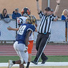 Tyler Mackey of Shady Spring scores a touchdown on a pass from Cameron Manns.<br /> Tina Laney/for The Register-Herald