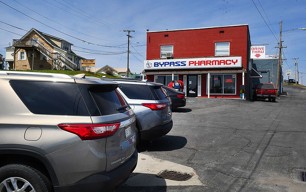 Bypass Pharmacy on Eisenhower Drive is a small pharmacy that provides free COVID-19 vaccinations.<br /> (Rick Barbero/The Register-Herald)