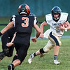 Greenbrier West's Cole Vandall tries to get past Summers County players during Friday's game at Summers County High School in Hinton. Jenny Harnish/The Register-Herald