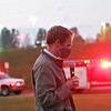 Senator Stephen Baldwin prays during a vigil at Greenbrier Valley Medical Center in Fairlea Tuesday.  The vigil was organized by Baldwin who is also President of the Greenbrier County COVID Task Force, to pray for patients and medical professionals battling the delta variant and to honor those who have lost their lives to the virus. Jenny Harnish/The Register-Herald