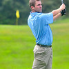 Ian Patrick, tees off during the BNI Memorial Tournament on Saturday at Pipestem. Chris Tilley/The Register-Herald
